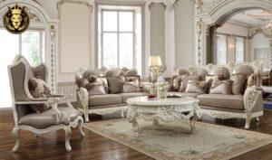 Jaksonville European Style Hand Carved Sofa Set