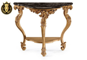 Kanchan Classic Style Hand Carved Console Table
