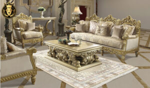 Kansas French Style Hand Carved Sofa Set