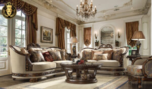Las Vegas European Style Carving Luxury Sofa Set