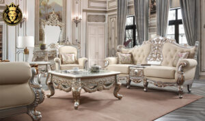 Los Angles Maharaja Style Hand Carved Sofa Set
