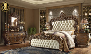 Louis European Style Carving Bedroom Furniture