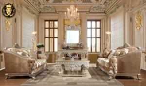Memphis European Style Carving Royal Sofa Set