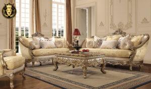 Milwaukee European Style Hand Carved Sofa Set