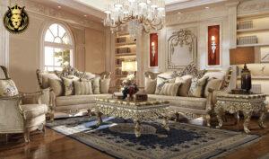 New york European Style Hand Carved Sofa Set