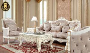 Orleans European Style White Royal Sofa Set