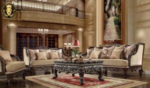 Portland Antique Style Carving Royal Sofa Set