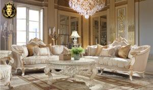 Raleigh Italian Style Hand Carved Sofa Set