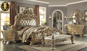 Riverside European Style Carving Luxury Bedroom Set