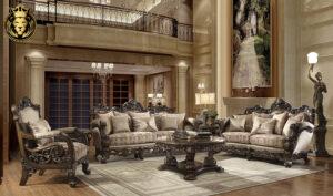 Sacramento Maharaja Style Hand Carved Sofa Set