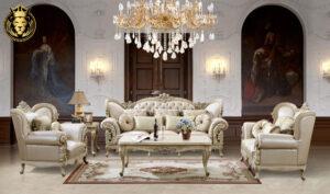 San Antonio Classic Luxury Style Hand Carved Sofa Set