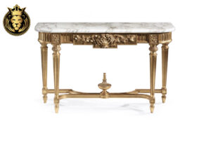 Sarada Classic Style Rose Carving Console Table