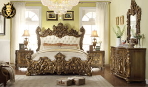 Stockton European Style High Carving Bedroom Furniture