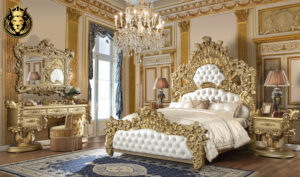 Toledo Luxury Style Hand Carved Bedroom Set