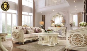 Tucson Luxury Style Hand Carved Royal Sofa Set