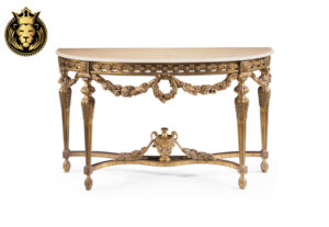Uremia Classic Luxury Style Hand Carved Console Table