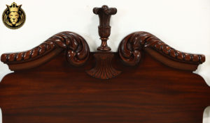 Aberdeen Antique Style Hand Carved Pair of Beds with mahogany color