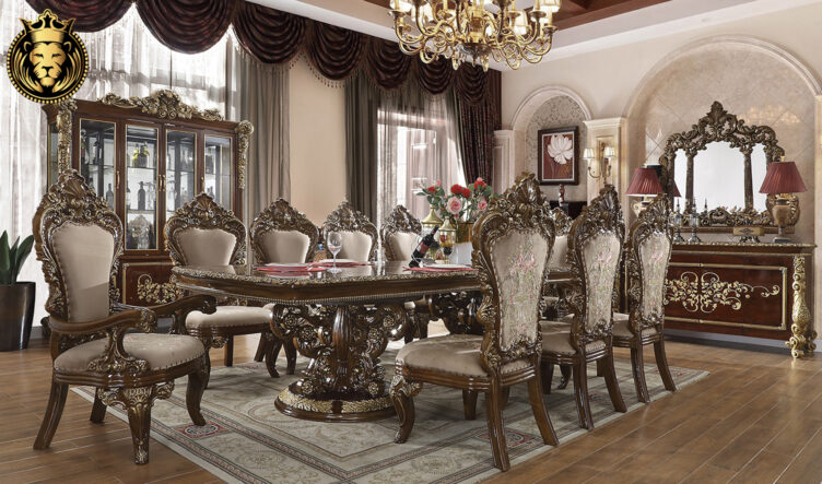 Irving European Style Hand Carved Dining Set