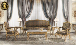 Joliet Classic Style Carved Sofa Set
