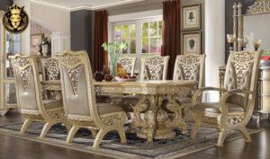 Modesto Royal Luxury Style Carving Dining Set