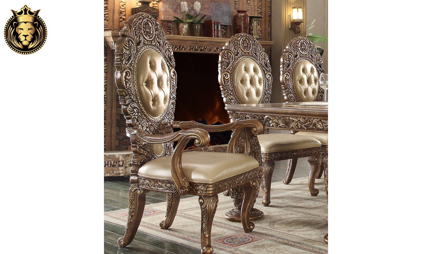 Oxnard European Style Hand Carved Dining Set