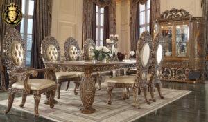 Oxnard European Style Hand Carved Dining Set