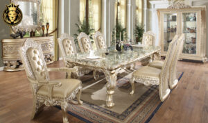 Rochester European Style Hand Carved Dining Table