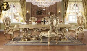 Tacoma European Style Carving Luxury Dining Set
