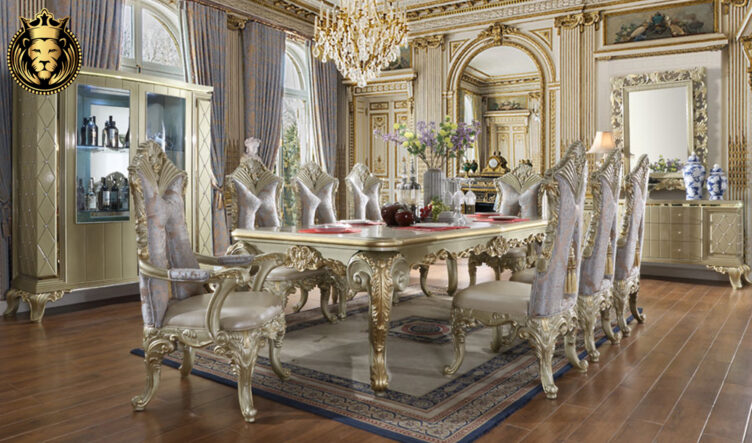 Tempe Italian Style Hand Carved Dining Set