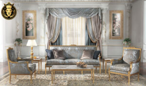 Visalia French Style Carved Sofa Set