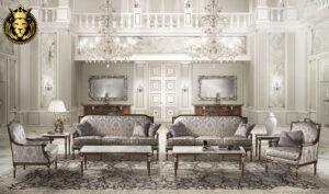 Warren Classic Style Carving Sofa Set (1)