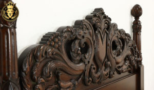 Bangor Antique Style Hand Carved Pair of Beds