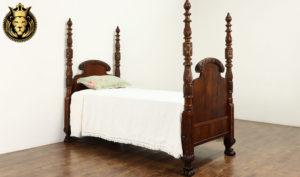 Birmingham Antique Style Hand Carved Single Bed