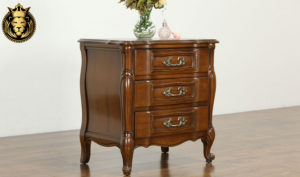 Carlisle Antique Style Hand Carved Bed Side Table