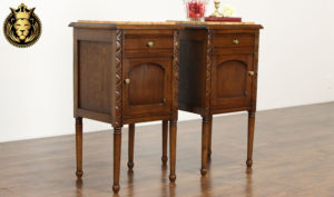 Chester Antique Style Hand Carved Nightstand
