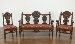 Darwin Antique Style Hand Carved Sofa