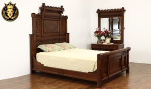 Exeter Antique Style Hand Carved Bedroom Set