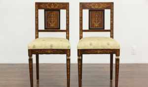 Lichfield Antique Style Teak wood Inlay Dining Chair
