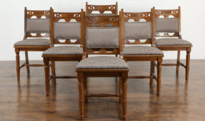 Manchester Antique Style Hand Carved Dining Chairs