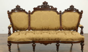 Melton Antique Style Hand Carved Sofa