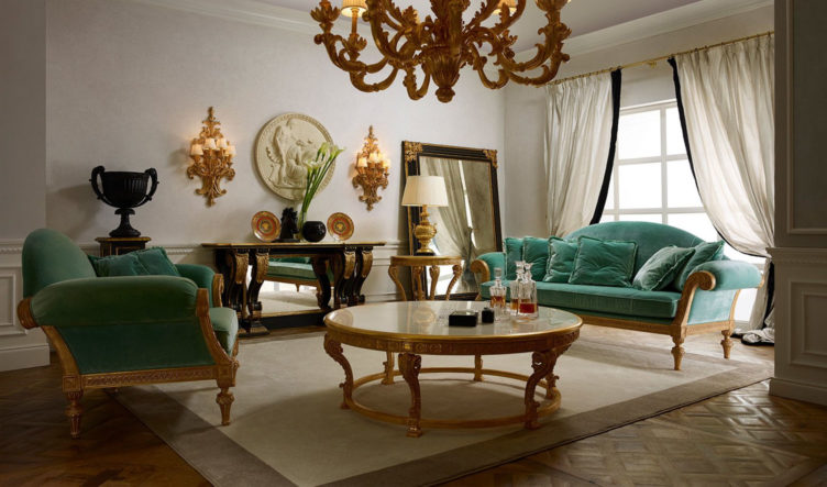 Neo Classic Style Bengaluru Collection Living Room
