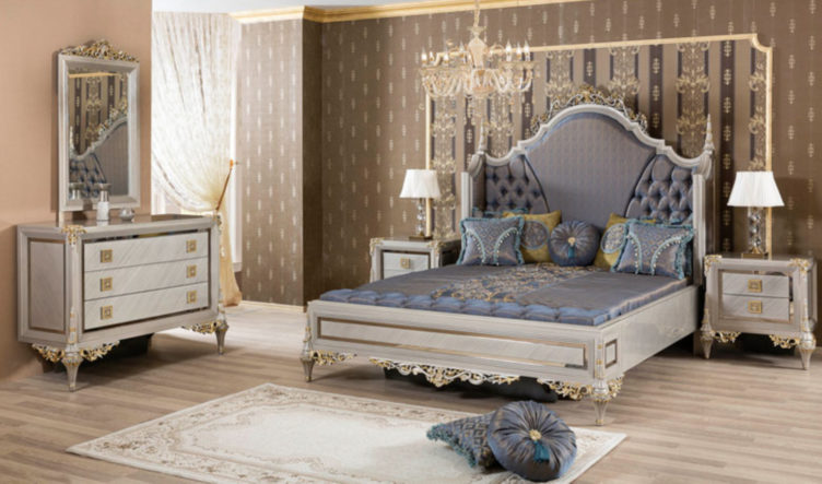 Ranikhet Classic Style Hand Carved Bedroom Set
